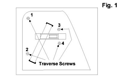 Traverse screw locations on the P-600.